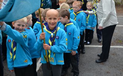 St. George's Day parade - Beavers forming up
