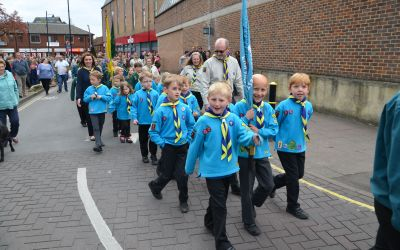St. George's Day parade - marching