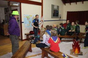 Cubs - Listening to Ollie around the 'camp fire'