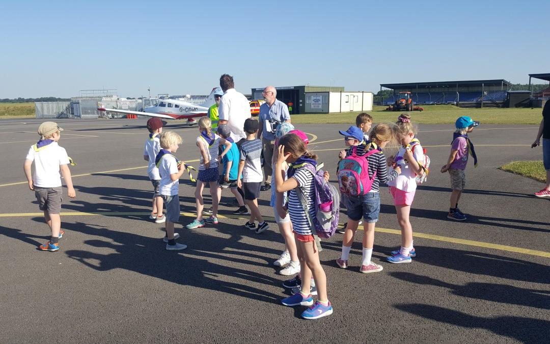 Beavers Visit Thruxton Airfield