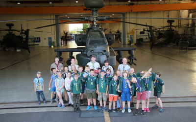 12th Cubs visit Middle Wallop Army Airbase