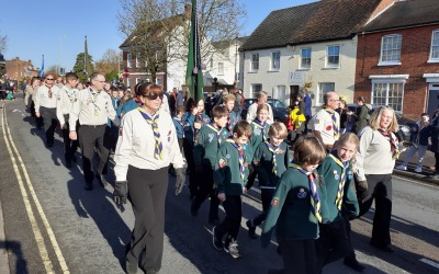 12th Andover (West) takes part in the Remembrance Day Parade