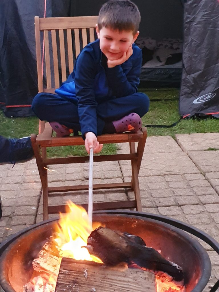 Jacob and the fire pit